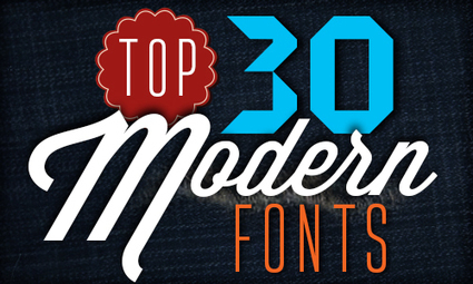 Top 30 Modern Fonts | Vector Diary | Graphic and Designer | Scoop.it