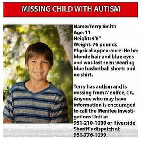 Church Of Malphas Asks.... Have You Seen This Missing Child With Autism? | Missing Persons | Scoop.it