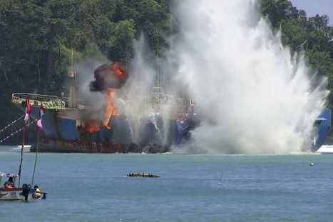Indonesia's harsh response to illegal fishing: Blowing up ships | Commercial fishing - legal issues | Scoop.it