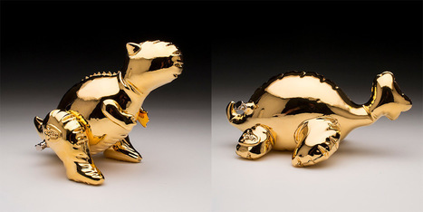 #Ceramic #Dino #Designs by Brett Kern Made to Look Like #Inflatable #Toys. #art #sculpture | Luby Art | Scoop.it