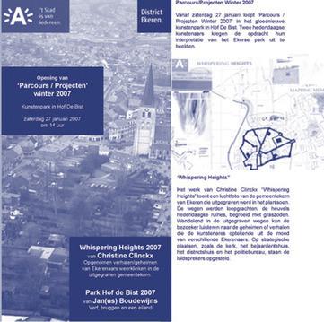 Christine Clinckx Whispering heights sound work 2007 Ekeren Hof ter Bist | DESARTSONNANTS - CRÉATION SONORE ET ENVIRONNEMENT - ENVIRONMENTAL SOUND ART - PAYSAGES ET ECOLOGIE SONORE | Scoop.it