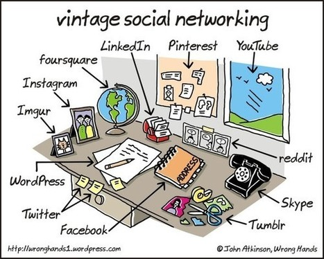 What Social Networking Looks Like in Real Life... [COMIC] | DISTANT LEARNING | Scoop.it