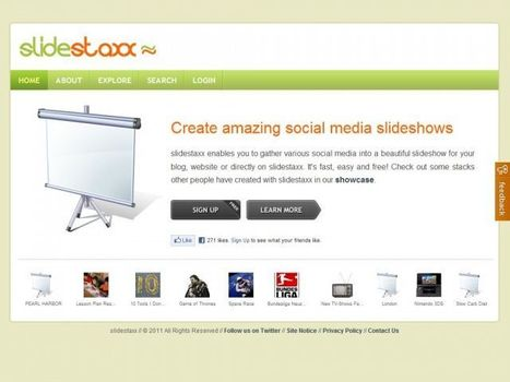 Create Amazing Slideshows From Web Content With Slidestaxx | Social Media Productivity | Scoop.it