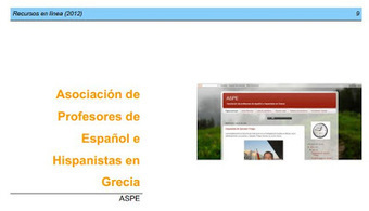 ASPE: Recursos en línea para la enseñanza de ELE 2012 | ELE Spanish as a second language | Scoop.it