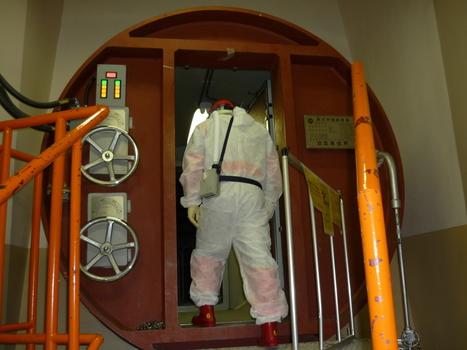 [Photo] Contrôle dans l'enceinte du réacteur #4  de Fukushima II (Daini) |  TEPCO | Japon : séisme, tsunami & conséquences | Scoop.it