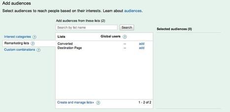 Le Reciblage Publicitaire selon Google : l'outil de Remarketing » Go-referencement.org | Mon cyber-fourre-tout | Scoop.it