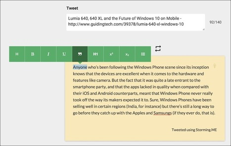 3 Apps to Share Text from Web as Images on Twitter | Educational Use of Social Media | Scoop.it