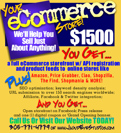"""Open Up Your Internet Store In 7 Days FLAT! We 'Hand Deliver' Your eCommerce Site w/ """"The Works!"""" @JagudEye - Contact Us Today!   OMG, WTF, ROFL, IDK, HTH?   Scoop.it"""