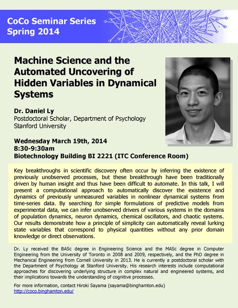 Next CoCo seminar on Wed March 19th by Daniel Ly (Psychology, Stanford University) | Center for Collective Dynamics of Complex Systems (CoCo) | Scoop.it