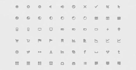 Excelente set gratuito con pequeños y variados iconos en formato PSD | Tecnología y Software | Scoop.it