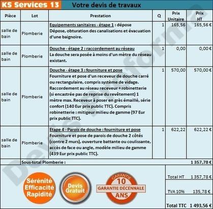 Chiffrage travaux Receveur de Douche : Bouches du Rhône | Courtier en travaux Bouches du Rhône | Scoop.it