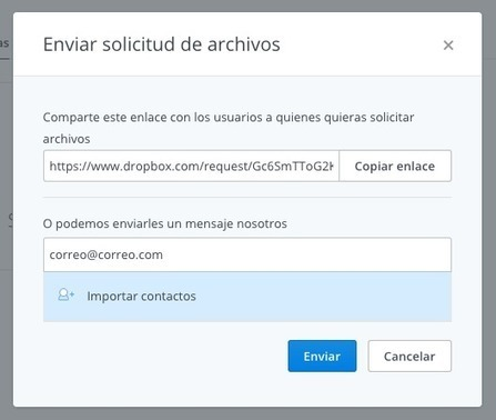 Dropbox pone el mundo al revés: cómo pedir que alguien sin cuenta de usuario nos suba archivos | paprofes | Scoop.it
