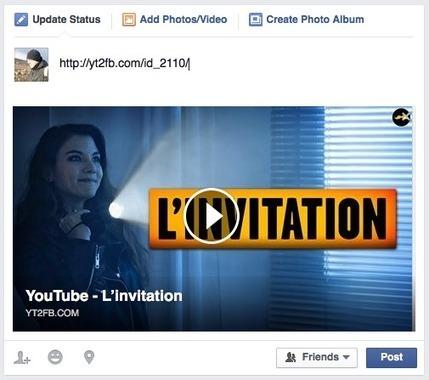 Comment poster une vidéo Youtube sur Facebook et lui donner un air de vidéo native ? | Time to Learn | Scoop.it