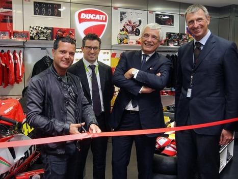 Ducati opens new concept store at the Marco Polo Airport in Venice | Rush Lane | Ductalk Ducati News | Scoop.it