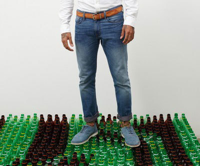 These Jeans Are 20% Plastic Bottles and Food Trays   Ubergizmo   bottle spray plastic   Scoop.it