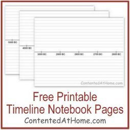 Free Printable Timeline Notebook Pages | Free or Almost Free Homeschool Resources | Scoop.it
