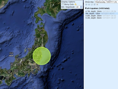 [séismes] La région du Tohoku redevient très active | Japan Quake Map | Japon : séisme, tsunami & conséquences | Scoop.it
