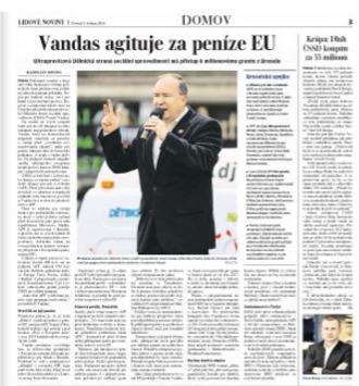 LN: DSSS očekává miliony z EU, využije je ve volbách | ANFAS | Scoop.it