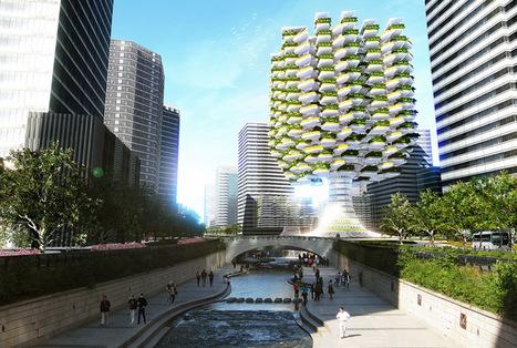 Aprilli design studio grows vertical urban skyfarm in Korea | sustainable architecture | Scoop.it