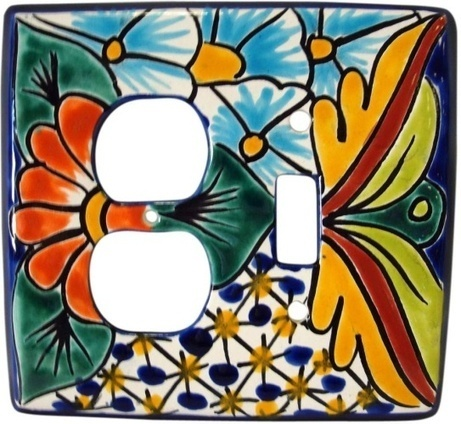 Talavera Combo Switch Plate Cover | Mexican Decor | Scoop.it