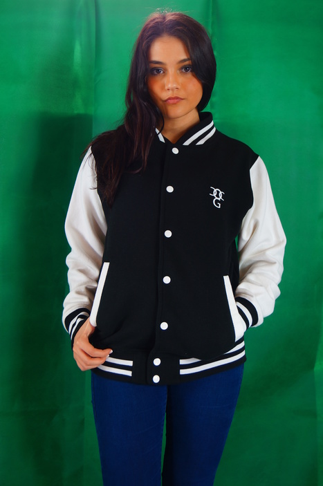 check out this black and white varsity jacket brand new, for more info go to WWWog clothing.co | urban clothing | Scoop.it