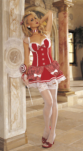 Sexy Candy Cane Christmas Costume –SexyLingeriesDeal.com | Christmas Costumes | Scoop.it