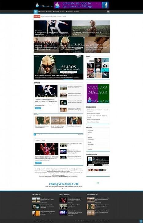 Diseño WordPress para portal de información cultural | Diseño Web Málaga | Scoop.it