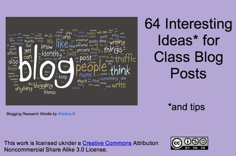 64 Interesting Ideas for Class Blog Posts | Primary School Teaching | Scoop.it