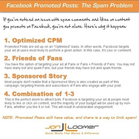Facebook Promoted Posts: The Problem With Spam [Part 1] - JonLoomer.com | How to Market Your Small Business | Scoop.it