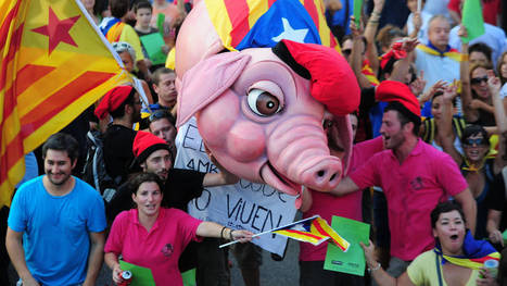 Catalans march for independence | AP Human Geography Digital Knowledge Source | Scoop.it