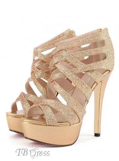 Fashion Golden Stiletto Heel Strappy Sandals   fashion girl   Scoop.it
