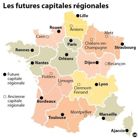 Fusion des régions : les nouvelles capitales dévoilées | Fusion des régions | Scoop.it