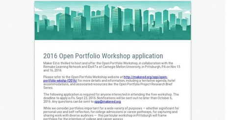 2016 Open Portfolio Workshop application   TIKIS   Scoop.it