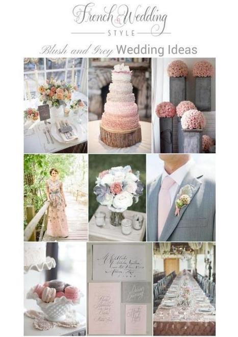 Romantic Blush and Grey Wedding ideas | French Wedding Inspiration | Scoop.it