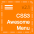 CSS - CSS3 Awesome Menu | CodeCanyon | Web feed | Scoop.it