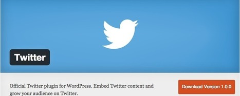 Twitter now has an official WordPress plugin | SpisanieTO | Scoop.it