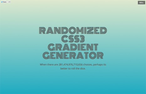 Randomized CSS3 Gradient Generator | Graphics Web Design & Development News | Scoop.it