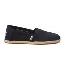 Navy Perforated Suede Women's Classics | TOMS.com | warmhat | Scoop.it