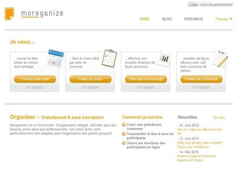 Moreganize. Outils simples pour mieux s'organiser   Boîte à outils du Web   Scoop.it
