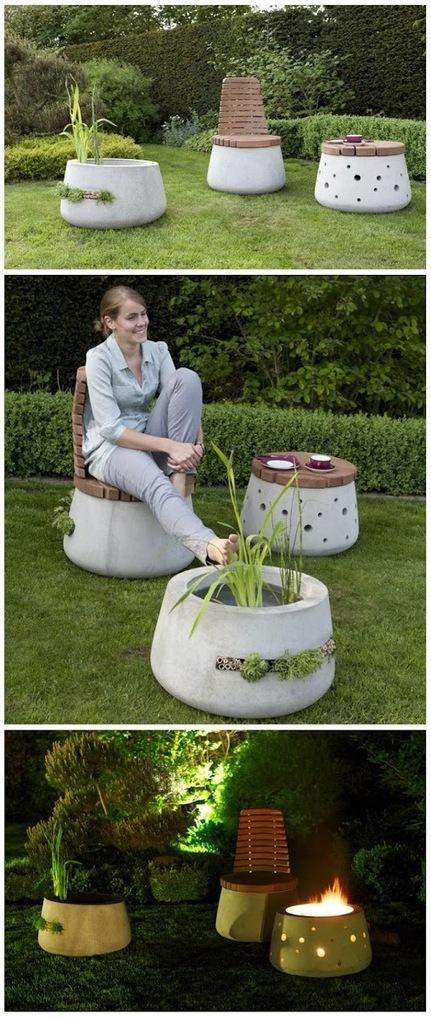 Beautiful Concrete Garden Furniture | World In Green | Backyard Gardening | Scoop.it