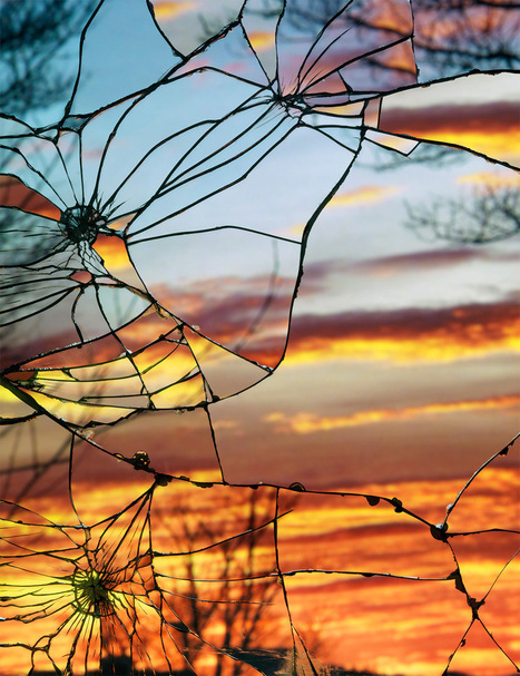 Photographs of Sunsets as Reflected through Shattered Mirrors by Bing Wright | Colossal | Miss Mandy's Online Finds | Scoop.it