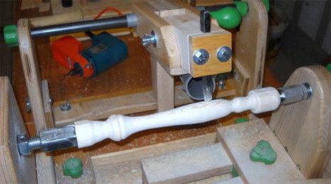 Torno para madera casero con copiador | tecno4 | Scoop.it