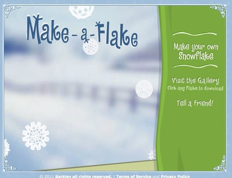 Make-a-Flake - A snowflake maker by Barkley Interactive | Techy Touchy Tools | Scoop.it