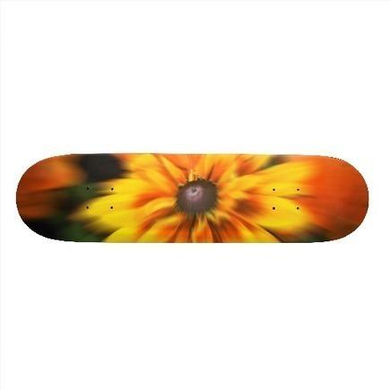 Mystic Yellow Flower Blur Skate Board from Zazzle.com | Yellowetwion | Scoop.it