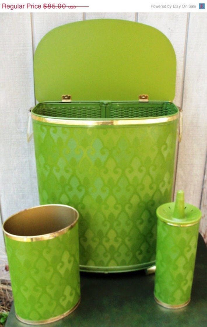 Clothes Hamper with Matching Waste Can and Brush Holder | Kitsch | Scoop.it
