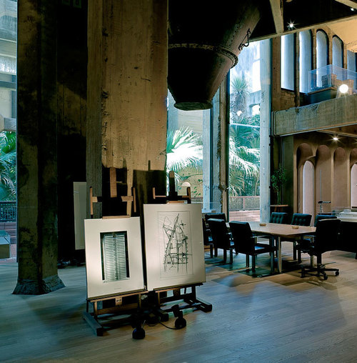 A former Cement Factory is now the workspace and residence of Ricardo Bofill | Yatzer 1975...tension and disproportion...