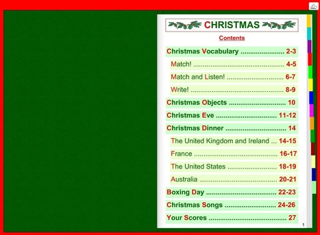 Christmas Interactive Book - Listen, Exercise and Grammar | Imparare l'Inglese OnLine | Scoop.it