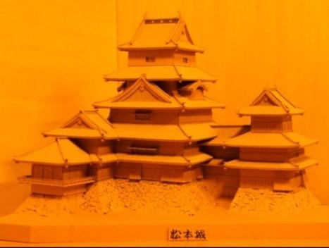 Amazing Model of Matsumoto Castle Made Entirely Out of Corrugated Cardboard | Strange days indeed... | Scoop.it