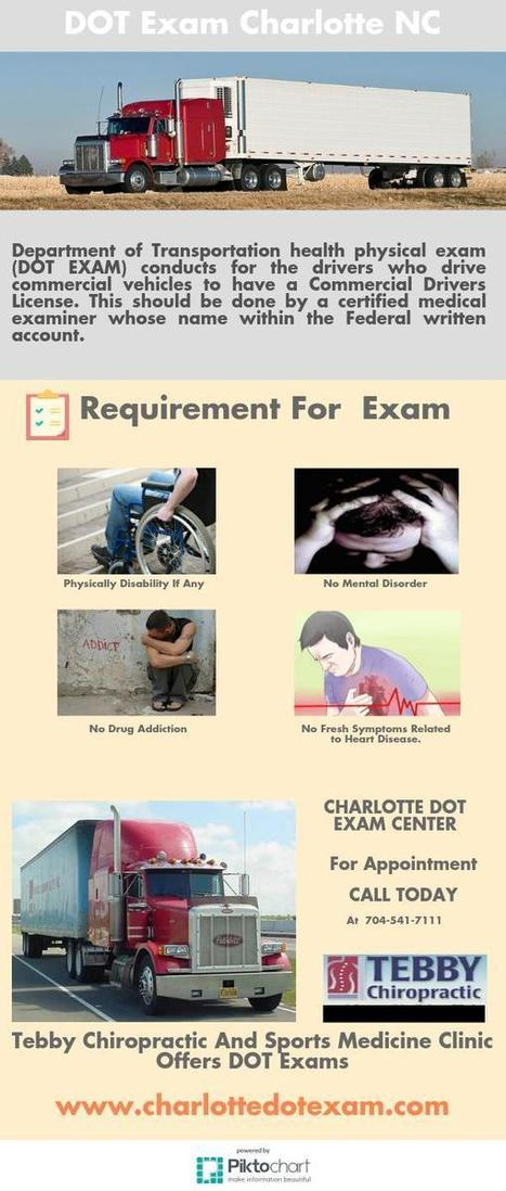 Why Drivers Need To Undertake The DOT Exam Charlotte NC Centers Conduct? | Chiropractic Care | Scoop.it