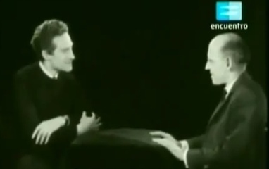 """Michel Foucault and Alain Badiou Discuss """"Philosophy and Psychology"""" on French TV (1965) 